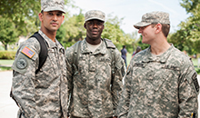 military science students at bowie state university
