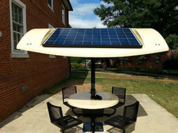 solar-powered charging table